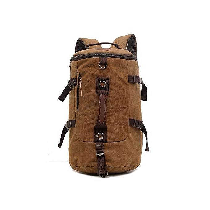 Generic Nice Men Canvas Large Backpack Shoulder Bag Travel Bags Military Style à prix pas cher