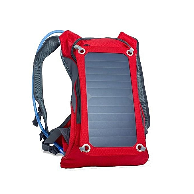 UNIVERSAL Solar Power Bag,OUTERDO Cycling Backpack With Removable Sun Powerouge 6.5W Solar Panel ,2L Bladder Bag For Mobile Phones,Tablets,Other 5V USB-Charged Devices rouge à prix pas cher