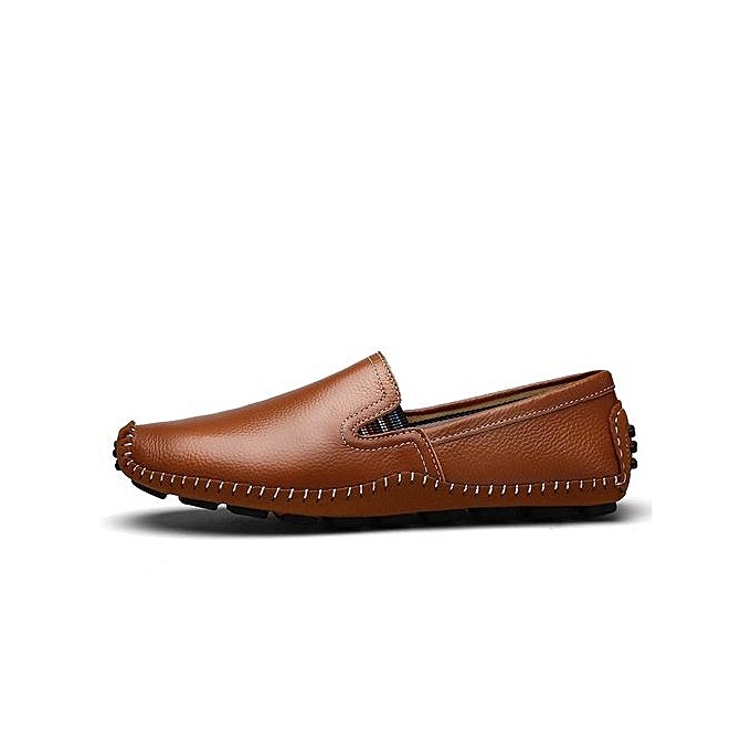 Fashion  's Leather Loafer Loafer Leather With Stripe At Side-Brown à prix pas cher  | Jumia Maroc 1d539e