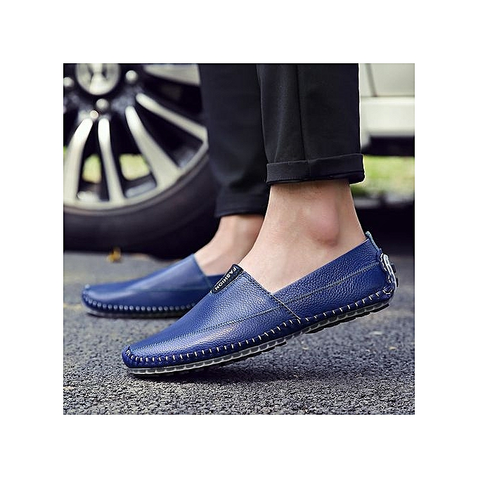 Fashion  's Slip-On  Leather Loafers-Blue à prix pas  cher  pas | Jumia Maroc 20d92e