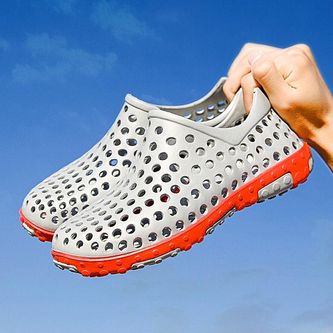 mode (Xiuxingzi) Décontracté Hommes's Flat respirant AntisEnfant imperméable lumière Slippers plage Hole chaussures à prix pas cher