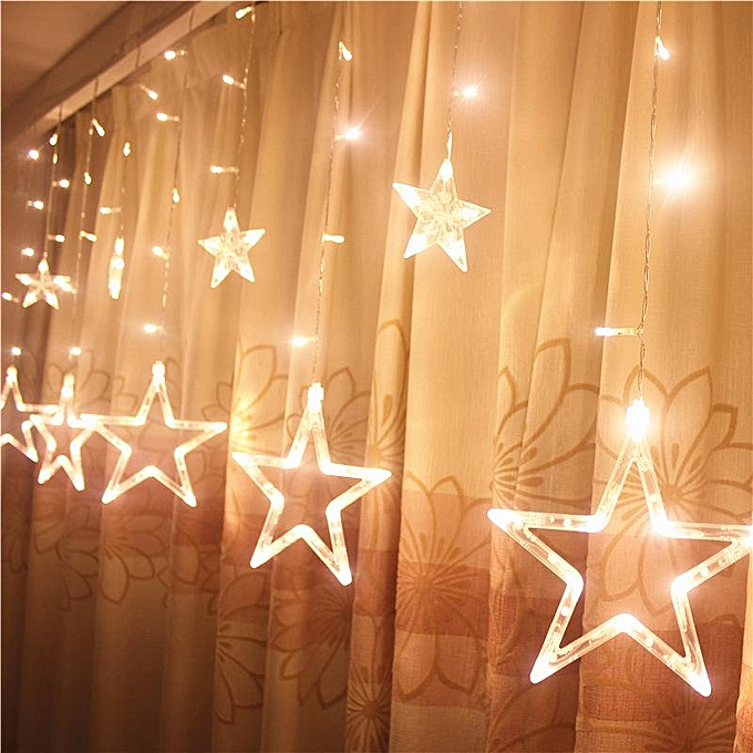 OEM LED lanterns five - pointed star curtain lumières sky stars mariage birthday Chri à prix pas cher