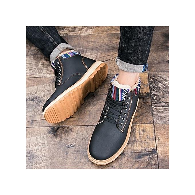 Fashion Leather Fashionable   Leather Fashion Martin Boots-BLACK à prix pas cher  | Jumia Maroc c860fe
