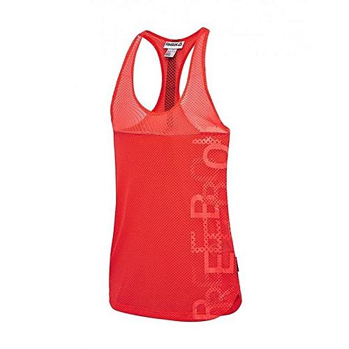 cf5a1a10a5ca4 Reebok Débardeur de Cardio en Maille Filet pour femmes - Rouge à ...
