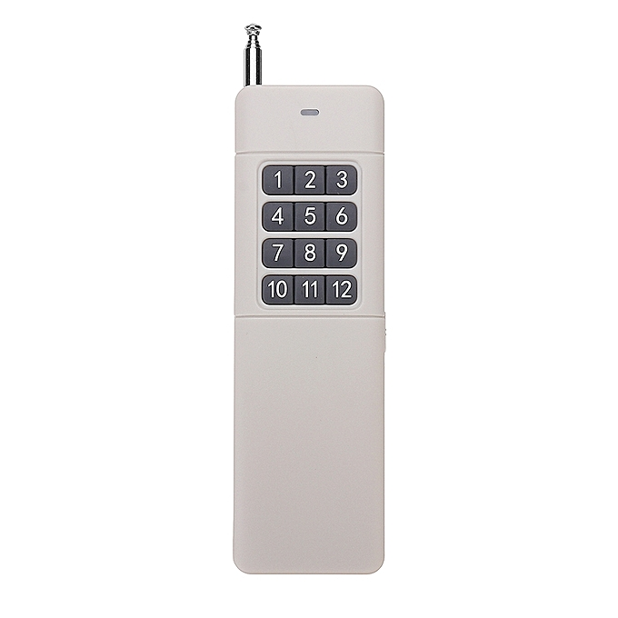 UNIVERSAL DC9V 12 Key Button Wireless Remote Control 3000M Ultra Long Range Transmitter 315MHz à prix pas cher