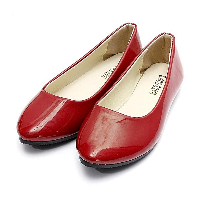 Fashion Wohommes Flat Ballet Casual chaussures Patent Leather Candy Couleurs Slip On Pumps chaussures à prix pas cher    Jumia Maroc