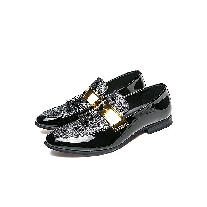 Fashion  s Slip On Loafer Leather Leather Leather Oxford Bicycle Toe Formal Business Casual Shoes For  -Silver à prix pas cher  | Jumia Maroc 525930