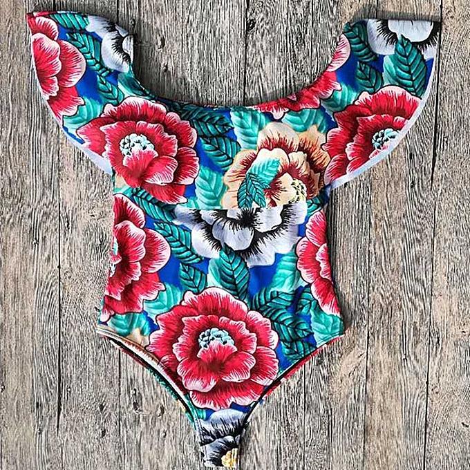Autre Swimsuit femmes Ruffle Swimwear Female One-Piece Suits Bathing Suit Maillot Padded Miao Beach Bathers Summer(LLZ001-LVH) à prix pas cher