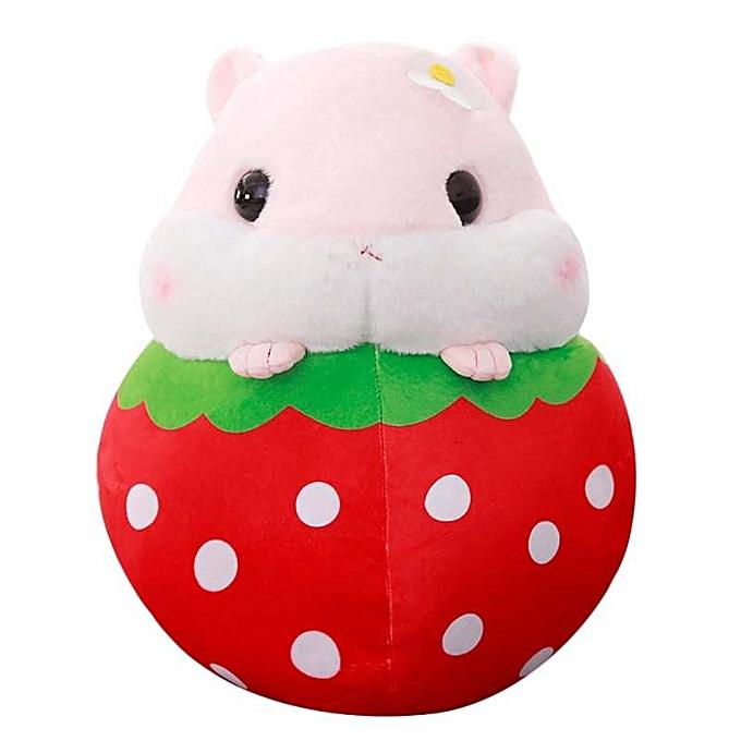 OEM Cute Hamster Plush Stuffed Animal Toys Fruit Hamster Kawaii Stress Reliever Toy à prix pas cher
