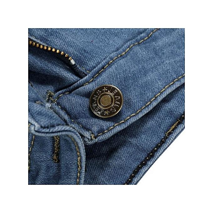 Fashion Xiuxingzi_femmes Denim Skinny Ripped Pants High Waist Stretch Jeans Slim Pencil Trousers à prix pas cher