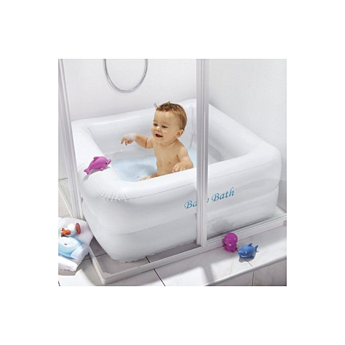 BESTWAY Baignoire piscine gonflable pour bébé 0-3 ans + pompe de gonflage  à prix pas cher