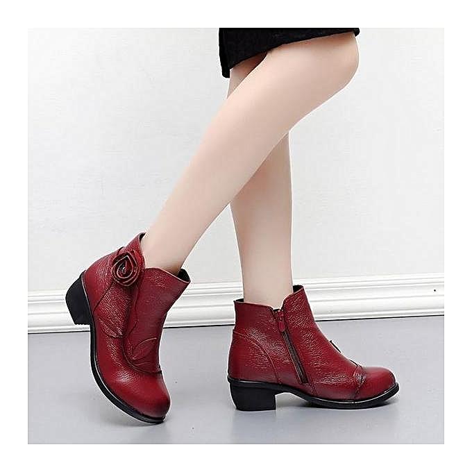 Fashion SOCOFY Fashion Retro Handmade Floral Soft WoHommes  Ankle Ankle  Leather Boots à prix pas cher    Jumia Maroc b6826d