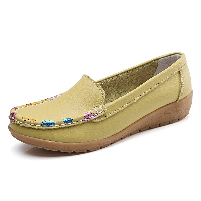Other New Stylish  Soft-soled Leather chaussures Middle-aged Mother's chaussures-Fruit vert à prix pas cher    Jumia Maroc