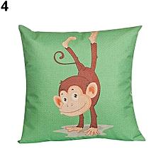 ENVOI INTERNATIONAL. Cartoon Monkey Pattern Throw Pillow Sofa Pillowcase Car Decor (4)