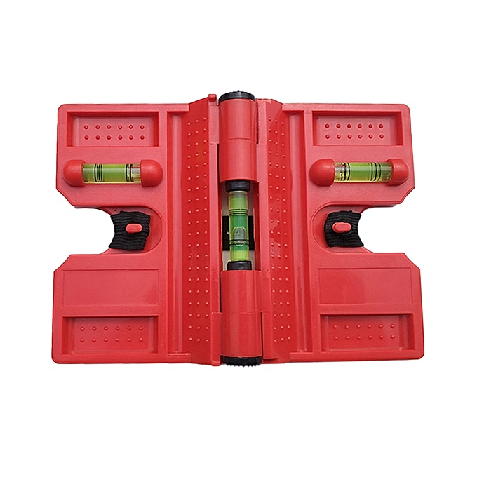 Autre THGS Foldable Cylinder Magnetic Level High-Precision Pipeline Mini Spirit Bubble Level For Pipe Wooden Pillars InsTailletion(rouge) à prix pas cher