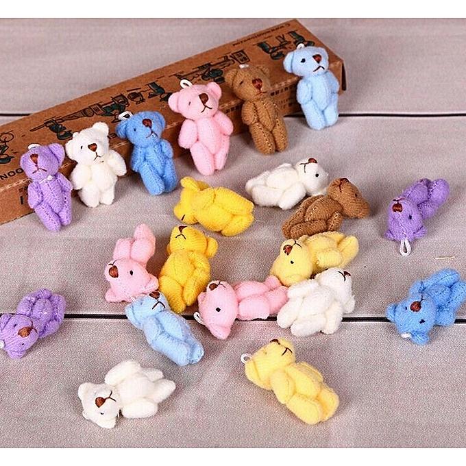 Autre Peu Mini Cute 6Couleurs 3CM Joint Bear Stuffed Plush TOY DOLL ; Bear Plush TOY GarHommests , Hair Decor Plush DOLL Accessories TOY(6) à prix pas cher