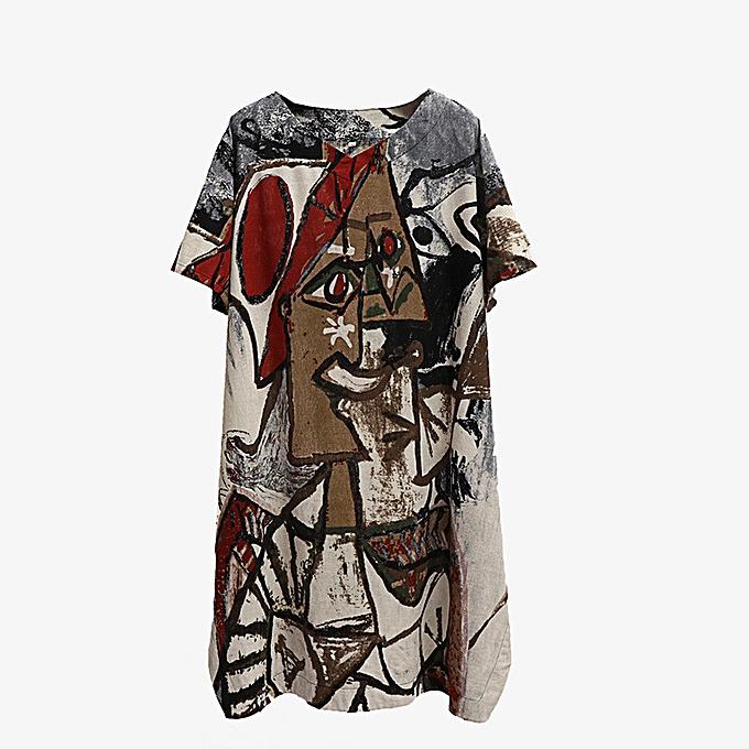 mode (Xiuxingzi) femmes Décontracté hauts Tee Shirt Floral Print Loose V-Neck chemisier à prix pas cher