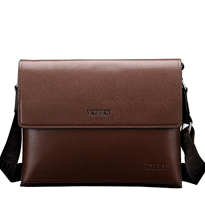 Other Brand Business Bags Multiple styles Men's Briefcase Laptop Leather of Men Bag Shoulder Bags high quality Men's Messenger Bags(Crossed marron) à prix pas cher
