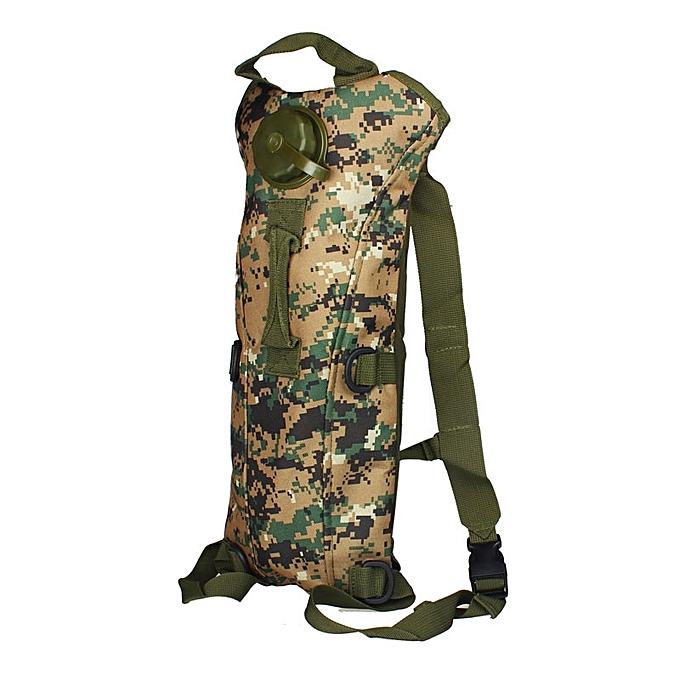 Generic Tcetoctre Hydration Water sac sac à dos Bladder Climbing Survival 3L Jungle Digital-Jungle Digital à prix pas cher