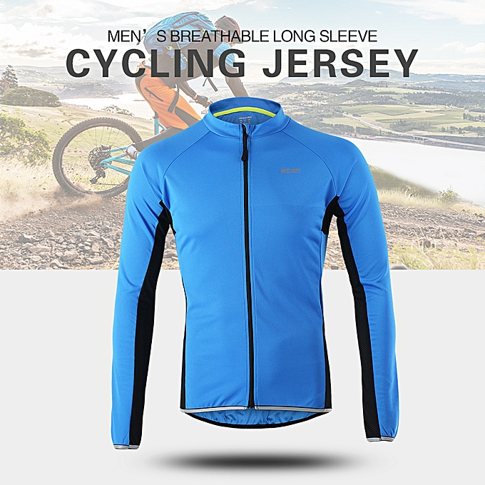 Other Arsuxeo Outdoor Sports Cycling Jersey Bike Bicycle Full Zip Long Sleeve Shirt MTB Bike Riding Clothing Jersey à prix pas cher