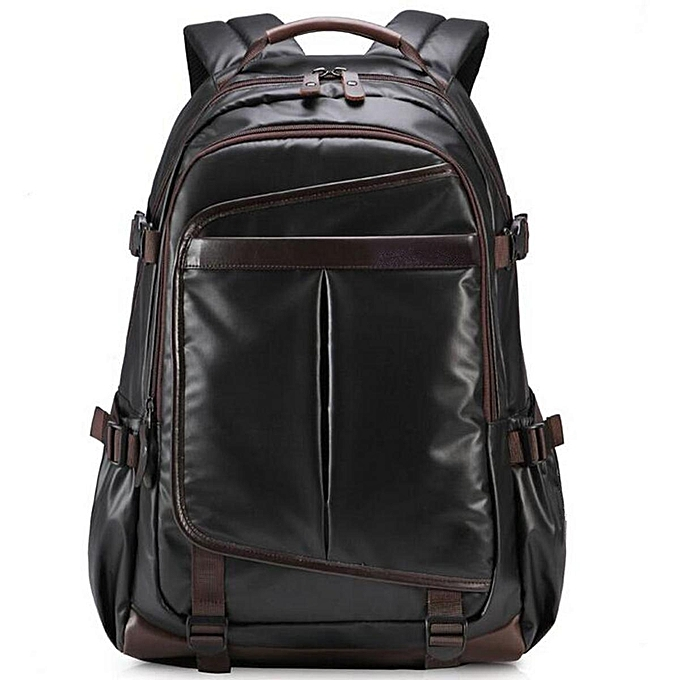Fashion New Large Mens noir Waterproof Backpack Laptop Bag Travel Bag à prix pas cher