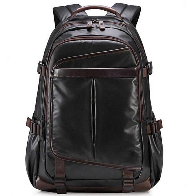 Fashion New Large Mens noir Waterproof Backpack Laptop Bag Travel Bag à prix pas cher