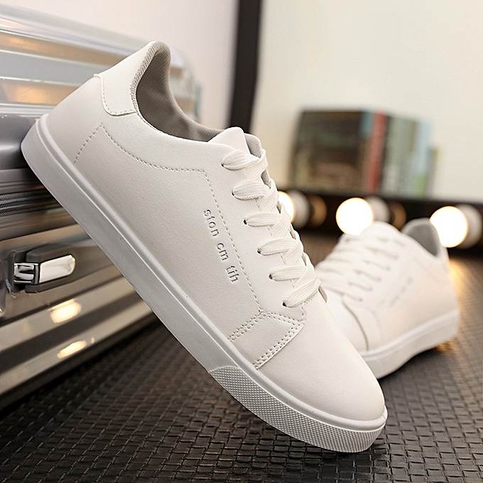 OEM New breathable blanc chaussures male student chaussures casual chaussures Korean version of wild hommes hommes chaussures trend-gris à prix pas cher    Jumia Maroc