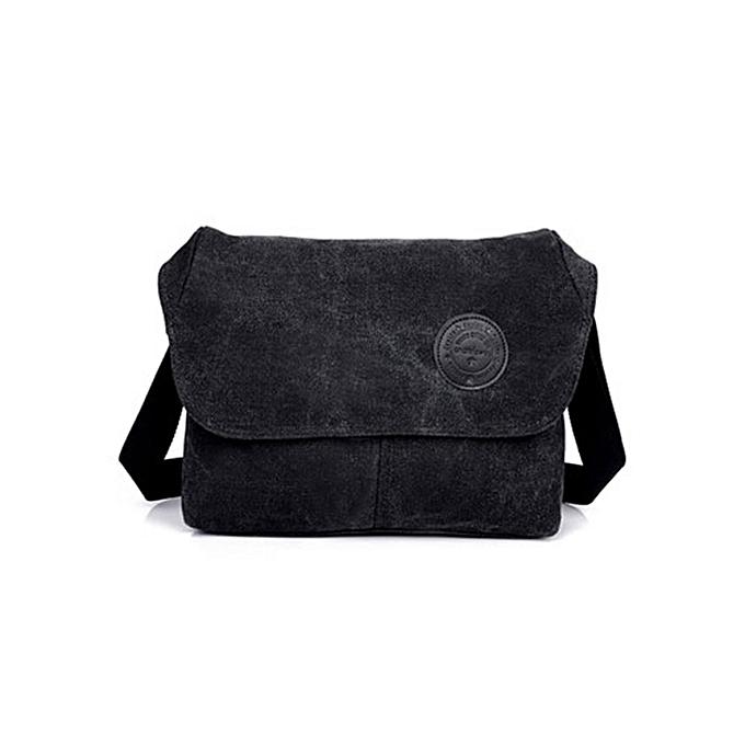 Other 2018 New high quality hommes travel bag Solid men messenger bags male shoulder bag clical design hommes canvas bags wholesale(noir canvas bag) à prix pas cher