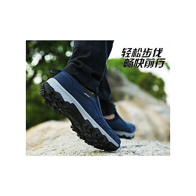 Fashion   Warm Hiking Shoes Shoes Shoes With Plush Sneakers   Outdoor Slip On Sports Shoes  s Trekking Shoes-Bleu  à prix pas cher  | Jumia Maroc 14ce47