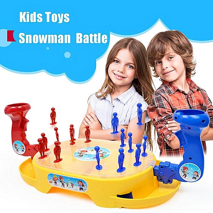 UNIVERSAL Enfants Mini Desktop Ejection Snowhomme Battle Finger Pre-school Game Educational Toy à prix pas cher