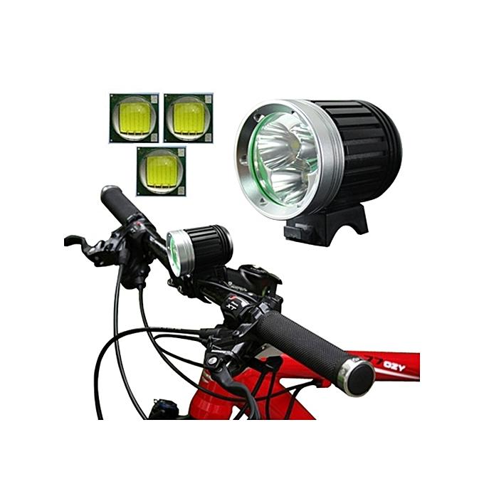Generic 4 Mode Bicycle Lamp   Head Lamp with 3x CREE XM-L T6 LED Light, Luminous Flux  3800lm à prix pas cher