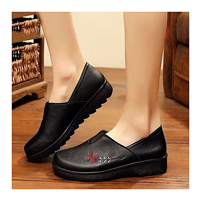 Fashion Fashion Embroidery Embroidery Embroidery Soft Sole Casual Shoe Comfy Slip On Flat Loafers For WoHommes  à prix pas cher  | Black Friday 2018 | Jumia Maroc e73d23