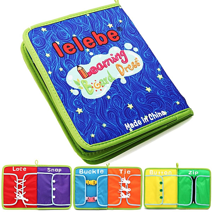 UNIVERSAL Montessori Learn to Robe Boards Toys Quiet Book Zip, Snap, Button, Buckle, Lace à prix pas cher