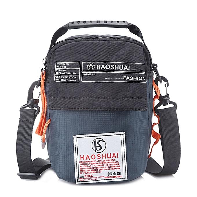Other Hommes Mini Flap sac Pouch Patchwork Messenger sac imperméable Nylon Letter impression Camo voyage Mountaineebague Shoulder sac XA209WC(dark bleu) à prix pas cher