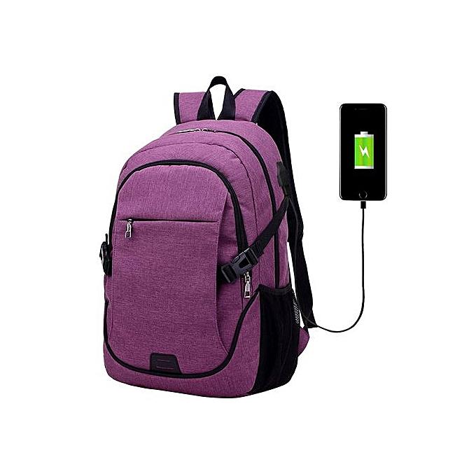 Fashion SingedanFashion Trend Men Shoulder Bag Leisure Business Travel Computer Backpack -violet à prix pas cher