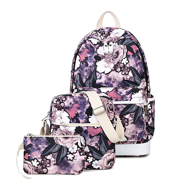 mode Tourya 3pcs Set sac à dos femmes FFaibleer impression sac à doss School sacs Booksac for Teenagers Girls Laptop sac à dos voyage Daypack à prix pas cher