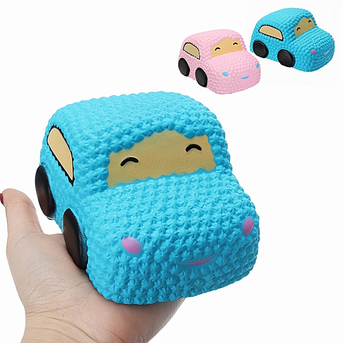 UNIVERSAL Squishy Car Racer Cake Soft Slow Rising Toy Scented Squeeze Bread -bleu à prix pas cher