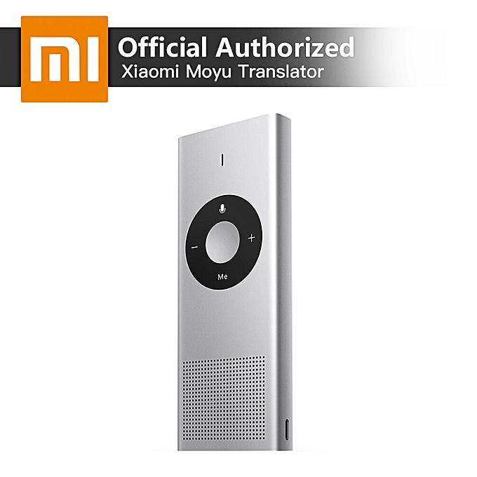Other Xiaomi Voice Translator Moyu AI Portable Mini Interpreter 14 Languages Microsoft Translation Engine Support Russian Language QLANG à prix pas cher
