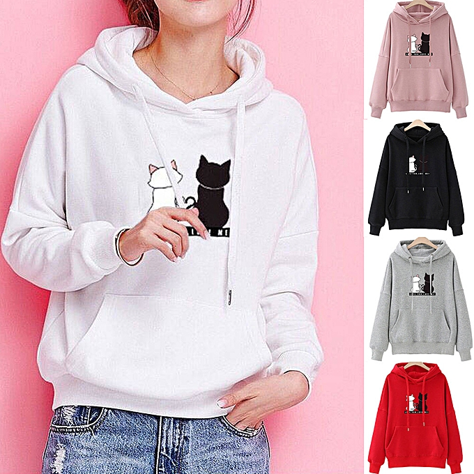Fashion Hiamok femmes Long Sleeve Hoodie Sweatshirt Casual Hooded Fashion Winter Autumn Tops à prix pas cher