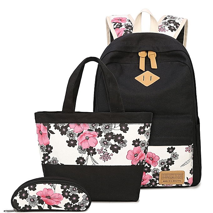 Tauntte 3 In 1 Wohommes toile sac à doss Trends Books sac For Student à prix pas cher