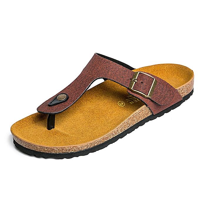 Fashion Men's Slippers Cork Fashion Slippers - marron à prix pas cher    Jumia Maroc