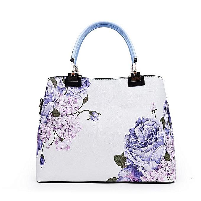mode femmes Floral PU cuir capacité Tote Elegant Shoulder sac Vintage bandoulière sacs à prix pas cher