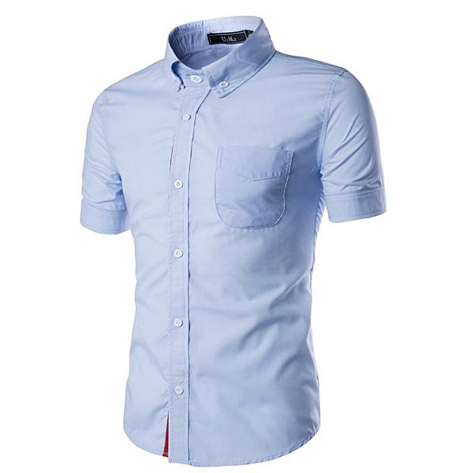 Other mode Story House 2018 Décontracté Hommes& 039;s été Wear manche courtes Slim Shirt à prix pas cher