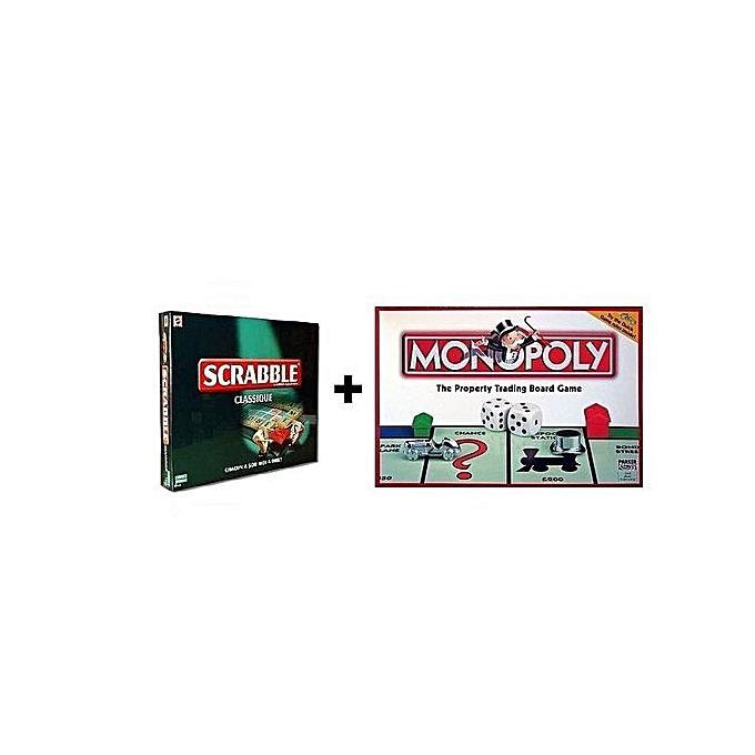 Monopoly Monopoly+Scrable  origin à prix pas cher