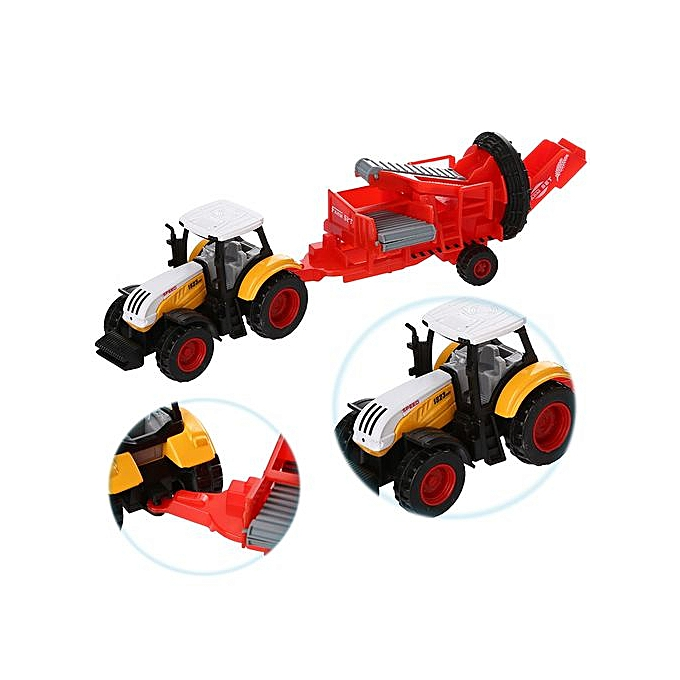 Generic Alloy Engineebague voiture Tractor Toy Vehicle Farm Vehicle Belt Boy Tractor Toy C à prix pas cher