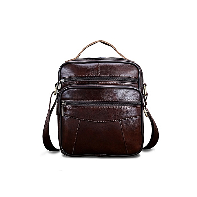 Other WESTAL Men's shoulder bag  leather bag for men messenger bags Flap zipper drop ship male Crossbody Bags handbags 8318(8318V4rougecoffee) à prix pas cher
