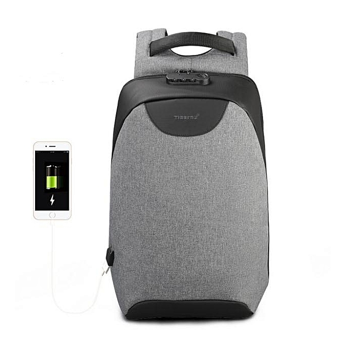 OEM Hot Men 15 15.6 inch Anti theft Laptop Backpacks Multifunction Waterproof USB Backpack For Man gris à prix pas cher