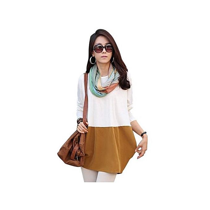 Sunweb femmes Décontracté manche longue T Shirt Robees Clothing Plus Taille Loose Autumn Winter Robe blanc à prix pas cher