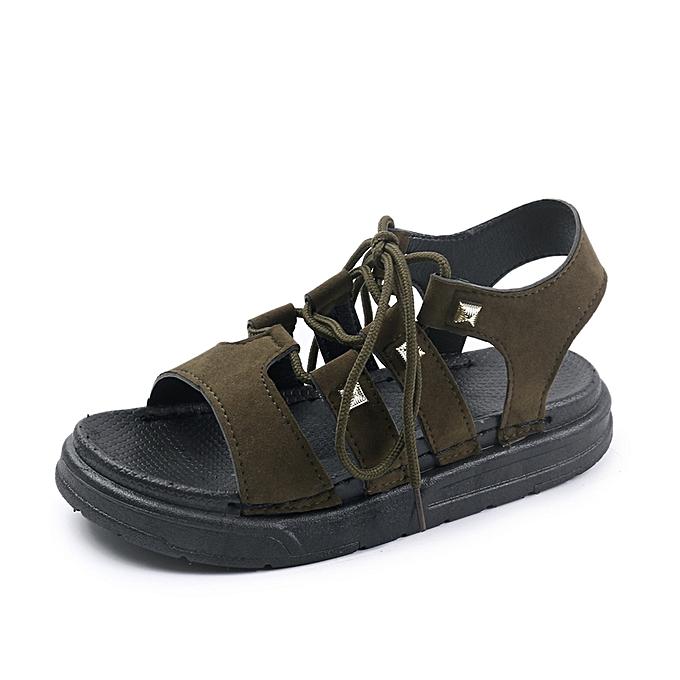Fashion Wohommes Rope Tie Leg Sandals à prix pas cher