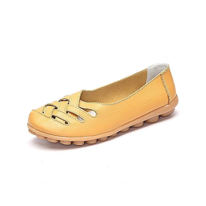 Fashion Large Taille Hollow Out Leather Loafers Moccasin Casual Flats à prix pas cher    Jumia Maroc